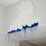 Rain Cloud, mixed media wall piece