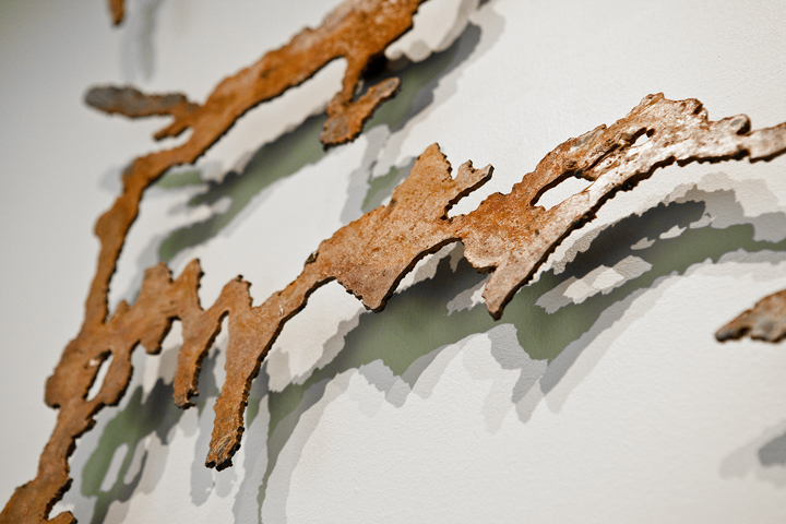 The Way, metal wall piece, Detail