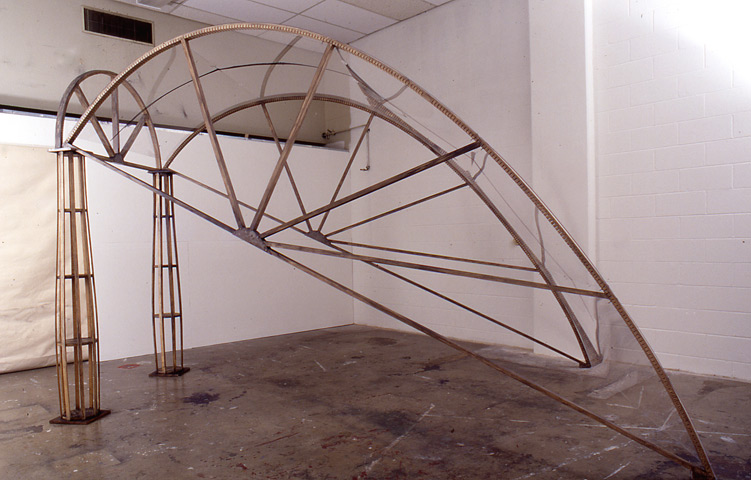 Line Drawing sculpture, side view