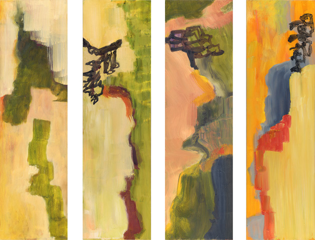 Falls Tetraptych, paintings