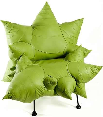 Fron view of Green Romanesco Chair