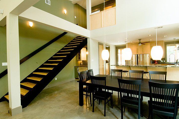 Hallway and dining area, Architectural Color services