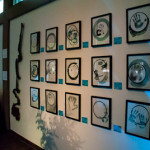 Drawings and art in the gallery, Umlauf Garden Party Event