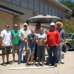 Randy Bounds, Robby Lee, Steve Weaver (PARD CMC), Carly Walker, Alex Serna (PARD CMC), Jennifer Chenoweth, Mike Garza (PARD Forestry), Larry Vanston, Sacred Space installation, Dougherty Arts Center