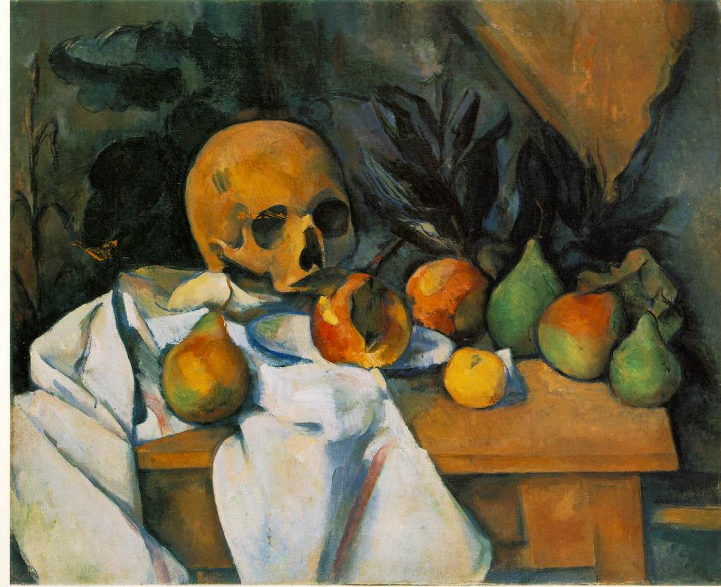 Cezanne's The Nature of Desire, still life with skull painting
