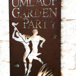 The Umlauf Garden Party sign, Umlauf Garden Party Event