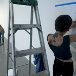Installing the show with Lindsey Champlin, Hedonic Map Project at CoLab