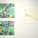 Dave O'Donnell's GIS maps printed by Agave Press at Hedonic Map exhibition opening at CoLab