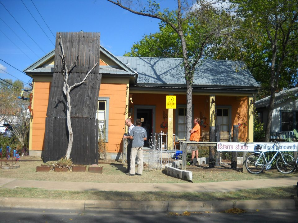 Front Yard with tree installation, EAST 2011 at Fisterra Studio by Judith Simonds