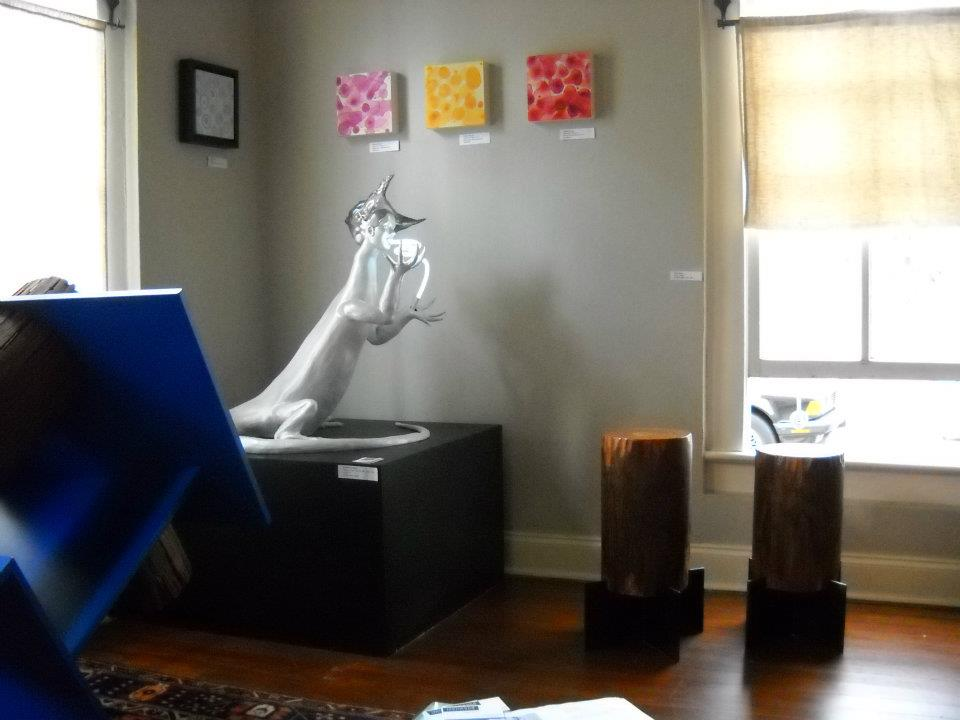Living room installation at Fisterra Studio, EAST 2011, by Judith Simonds