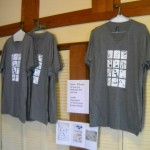 Tshirts of drawings for sale at Fisterra Studio, EAST 2011, by Judith Simonds