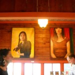 Felice House's paintings of Women at Fisterra Studio, EAST 2011, by Judith Simonds