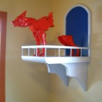 Richard Mansfield Red Animal Sculpture at Fisterra Studio, EAST 2011, by Judith Simonds