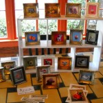 Felice House's tiny paintings at Fisterra Studio, EAST 2011, by Judith Simonds