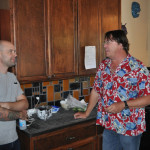 Erik and Stanley talking in kitchen, EAST 2012 at Fisterra Studio by Philip Rogers