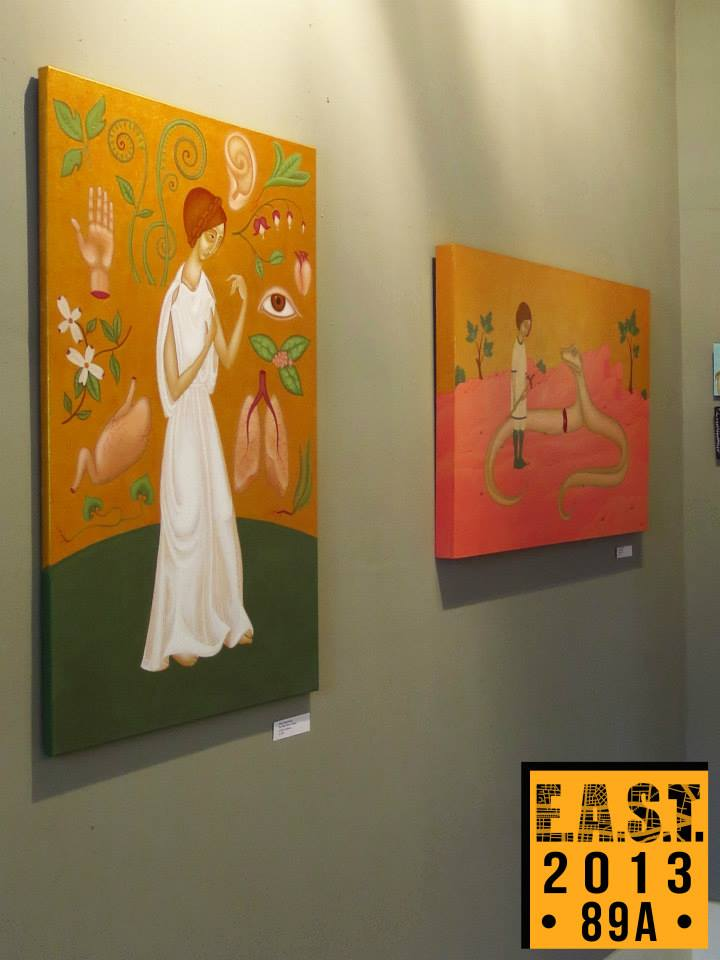 Emma Hadzi-Antich's Paintings, EAST 2013 at Fisterra Studio by Leslie Vela