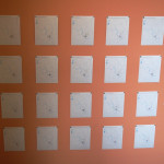 Wall view of emotion maps, Hedonic Map, UT Department of Psychology