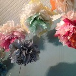 Horizontal closeup of paper flower installation, EAST 2013 at Fisterra Studio by Norman Hera